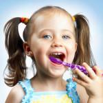 Little Girl Brushing
